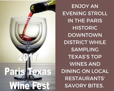 Paris Wine Fest set for April 1, 2017
