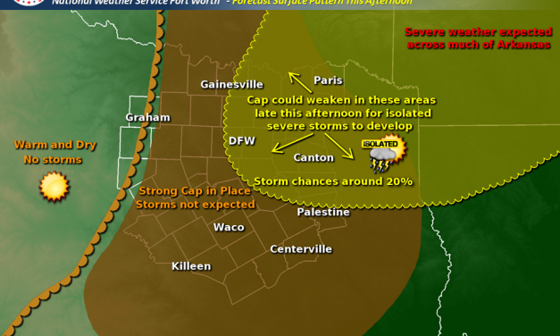 Severe thunderstorms likely this afternoon for Northeast TX