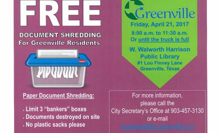 City Wide Document Shred Event on April 21, 2017