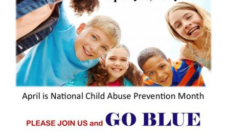 Wear blue on Friday for National Child Abuse Prevention Month