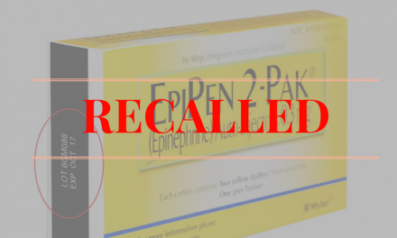 FDA Alert: Voluntary recall of EpiPen and EpiPen Jr, Nationwide