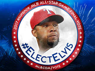 Texas Rangers urge fans to #ElectElvis