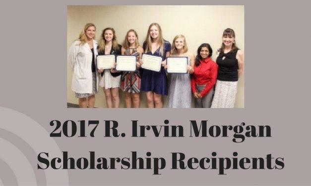 2017 R. Irvin Morgan Scholarship Recipients