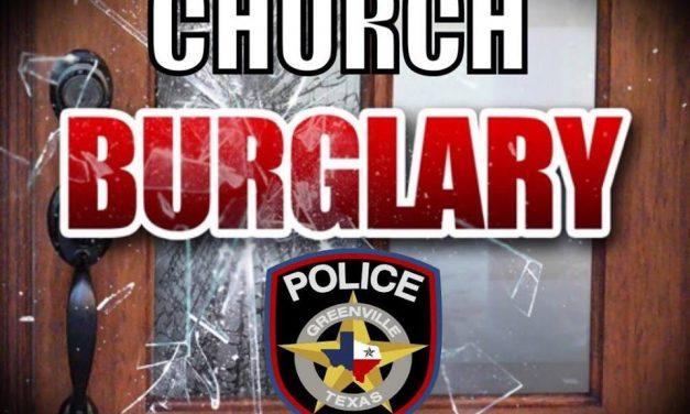 Greenville PD investigate church burglary
