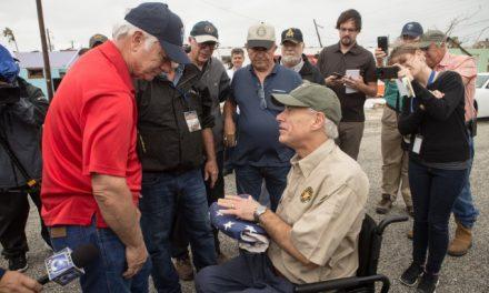 Governor Abbott Visits Coastal Bend Region And Surveys Storm Damage Left By Hurricane Harvey