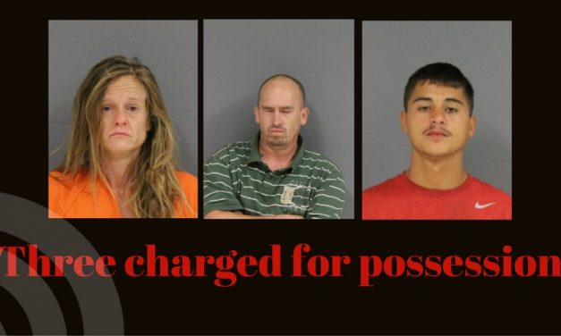 Possession charges lands three in jail