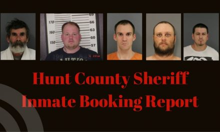 Hunt County Sheriff Inmate Booking Report – August 23, 2017