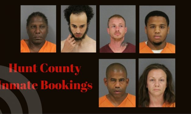 Hunt County Sheriff Inmate Booking Report – August 3, 2017