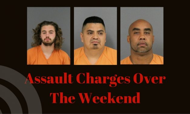 Three booked for assault over the weekend