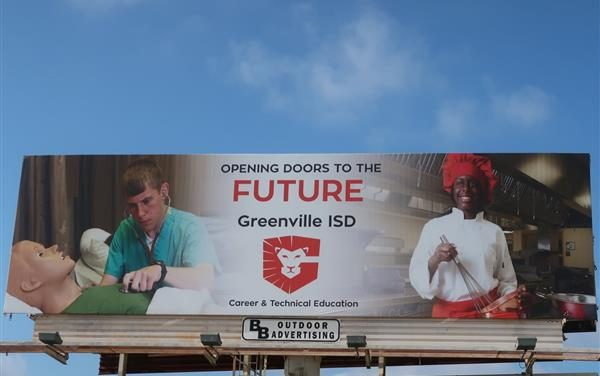 GISD billboard spotlights Career and Tech programs