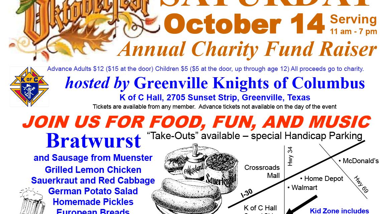 Greenville Knights of Columbus host annual Oktoberfest on Saturday