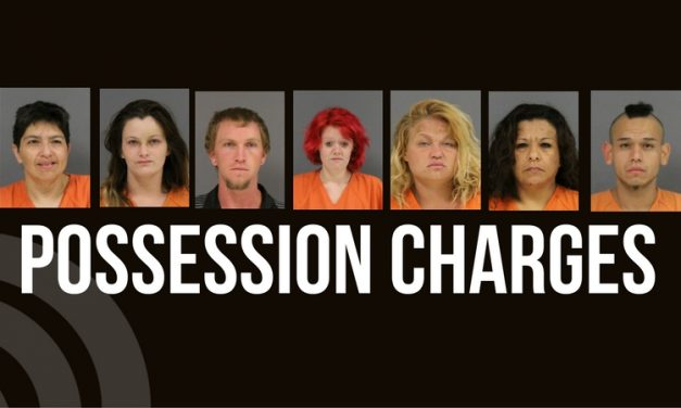 Possession charges over the weekend