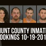 Hunt County Inmate Booking Report – October 19, 2017