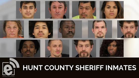 Hunt County Sheriff Inmate Booking Report – November 21, 2017
