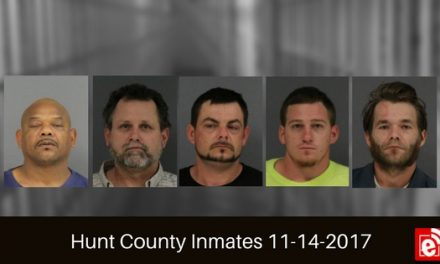 Hunt County Sheriff Inmate Booking Report – November 14, 2017