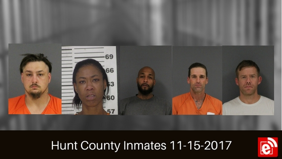 Hunt County Sheriff Inmate Booking Report – November 16, 2017