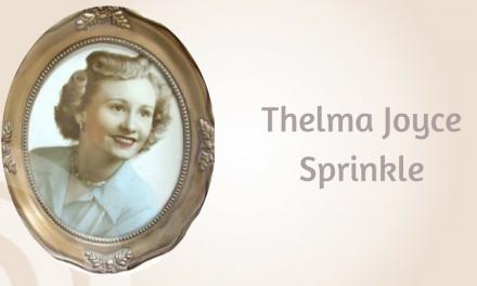 Thelma Joyce Sprinkle of Greenville