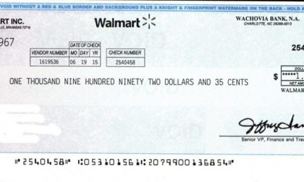 Watch Your Mail – Check from Walmart most likely a scheme