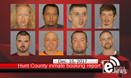 Hunt County inmate booking reportfor Friday, Dec. 15