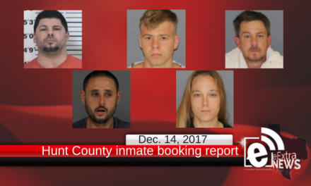 Hunt County inmate booking report for Thursday, Dec. 14
