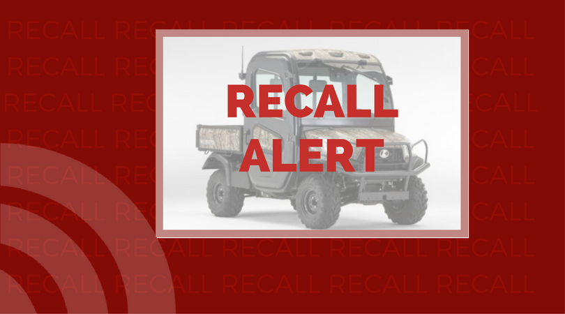 Recall issued for Kubota RTV-X due to injury hazard