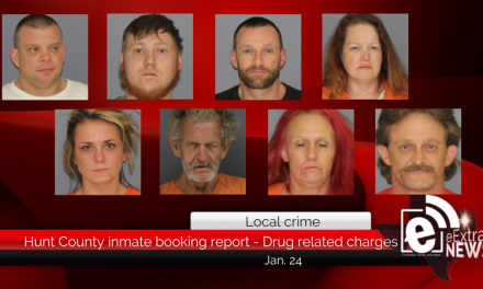 Hunt County Sheriff inmate booking report  – Drug related charges