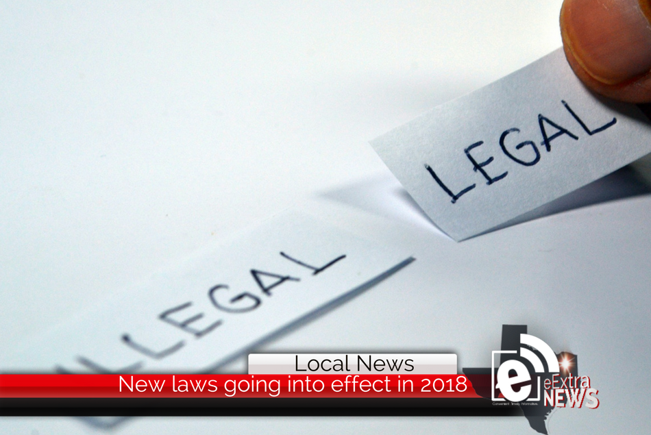 New Texas laws going into effect for 2018