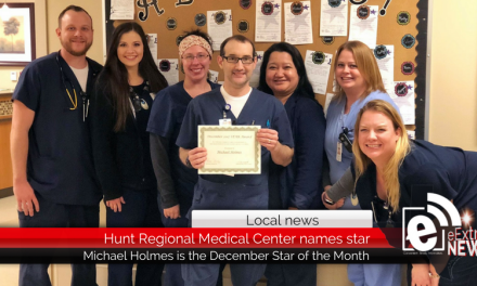 Hunt Regional Medical Center names December Star of the Month