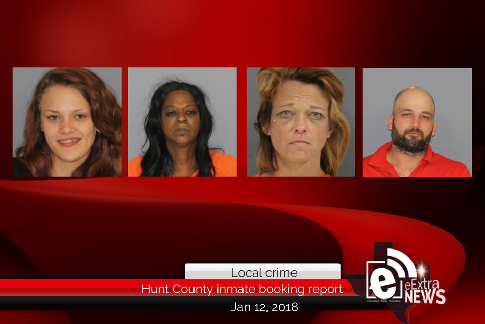 Hunt Count inmate booking report || January 12, 2018