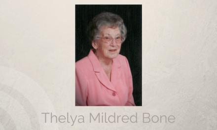 Thelya Mildred Bone formerly of Hugo, Oklahoma