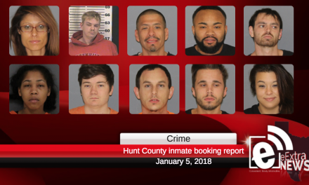Hunt County Sheriff inmate booking report || January 5, 2018