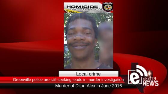Greenville police still seeking leads in the murder of Dijon Alex in 2016