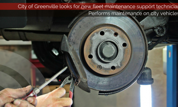 City of Greenville looks for new fleet maintenance support technician