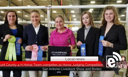 Hunt County 4-H Horse Team competes in Horse Judging Competition