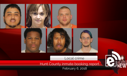 Hunt County inmate booking report || February 6, 2018