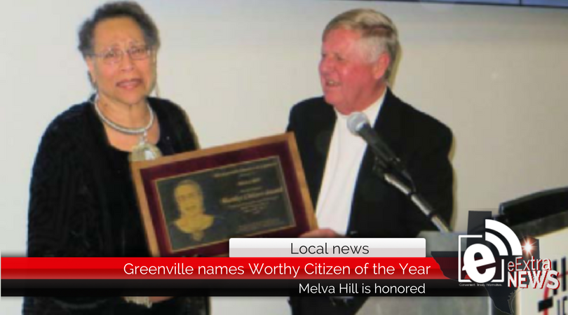 Greenville names Melva Hill this year's Worthy Citizen of the Year