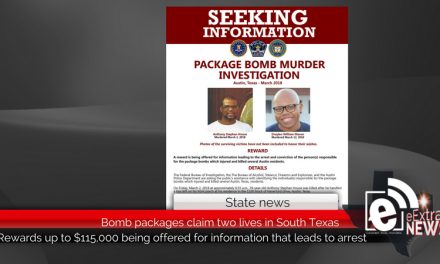 Bomb packages claim two lives in South Texas, large reward being offered