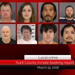 Hunt County inmate booking report || March 19, 2018