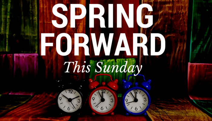 spring days ahead The official spelling is daylight saving time, not daylight savings in spring, clocks spring forward from 12:59 am and it prevents the day.