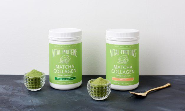 Green Tea Matcha Collagen Latte || Erin Finch