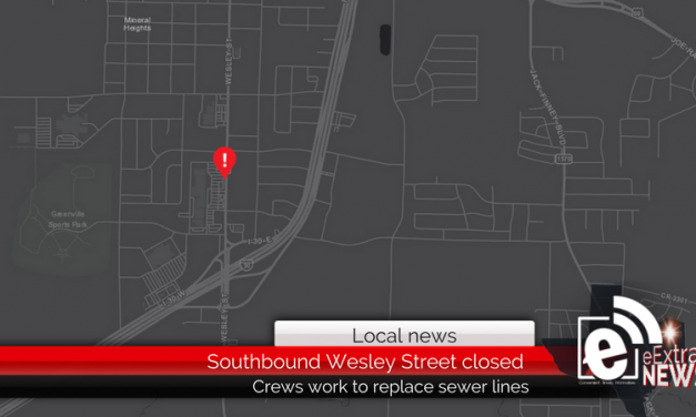 Southbound lanes closed at 6800 block of Wesley Street