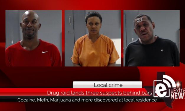 Drug raid lands three suspects behind bars