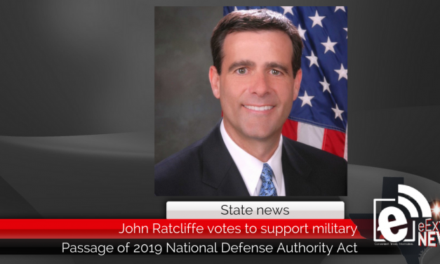 Rep. Ratcliffe votes to support military and boost national security