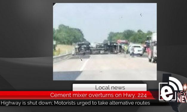 Cement mixer overturns on Hwy. 224 || Motorists urged to take alternative routes