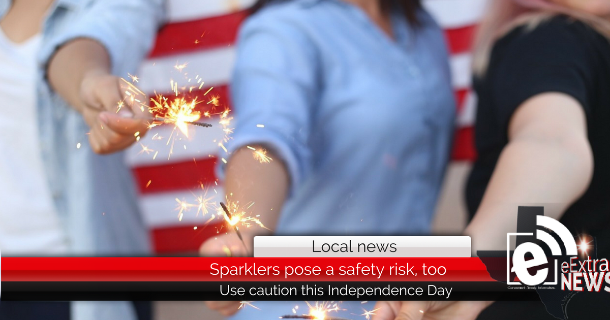 Sparklers pose a safety risk, too