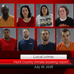 Hunt County inmate booking report || July 16, 2018