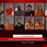 Hunt County inmate booking report || July 17, 2018