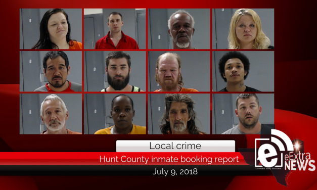 Hunt County inmate booking report || July 9, 2018