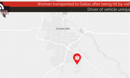 Woman transported to Dallas after being hit by vehicle
