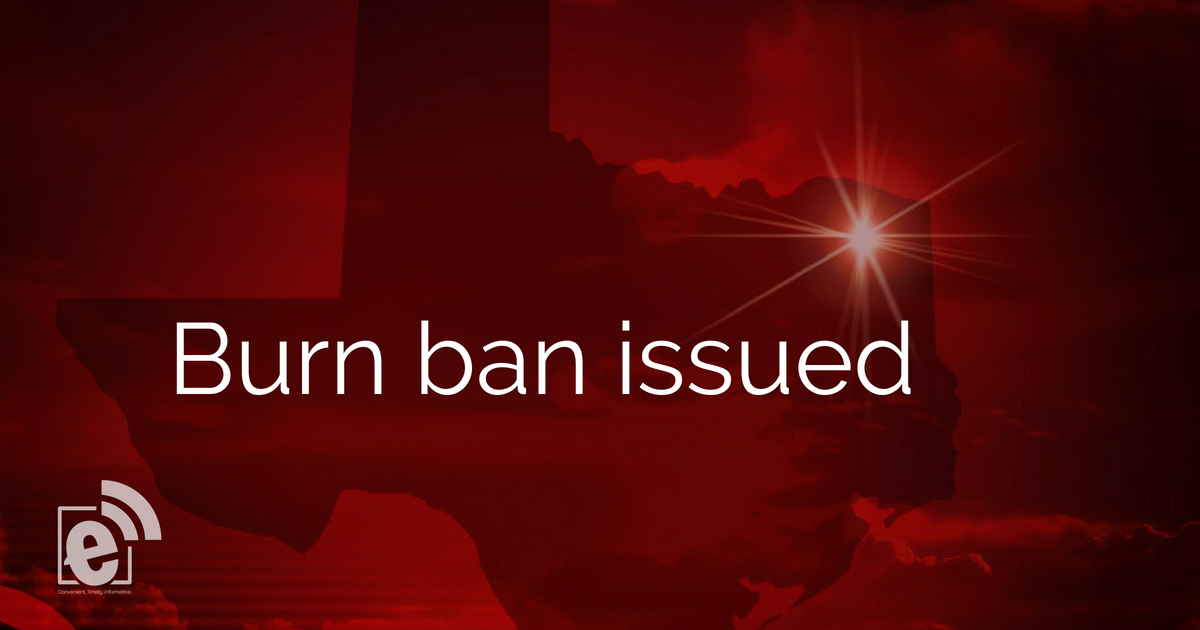 Burn ban enacted for Hunt County